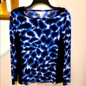 Doncaster black and blue top